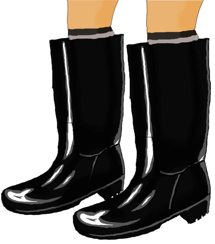 トイレ掃除の黒長靴