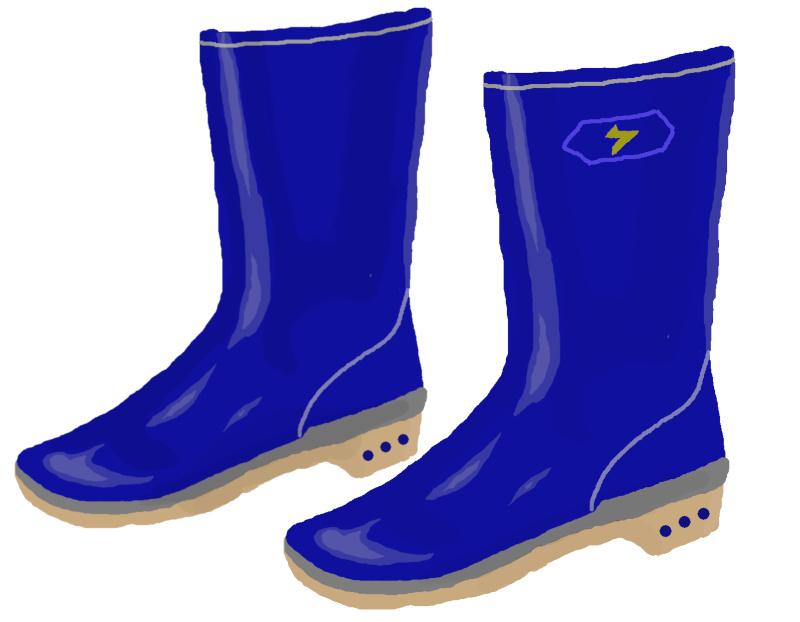青い長靴のイラスト