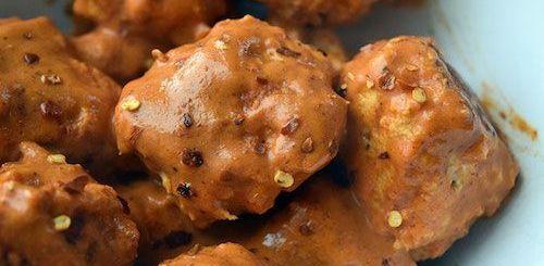 spicy peanut meatballs