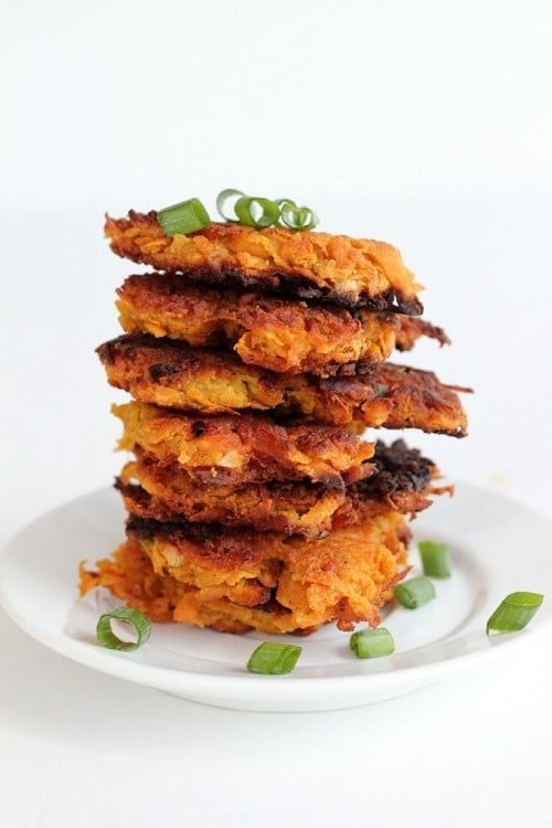 12. Sweet Potato and Bacon Cakes