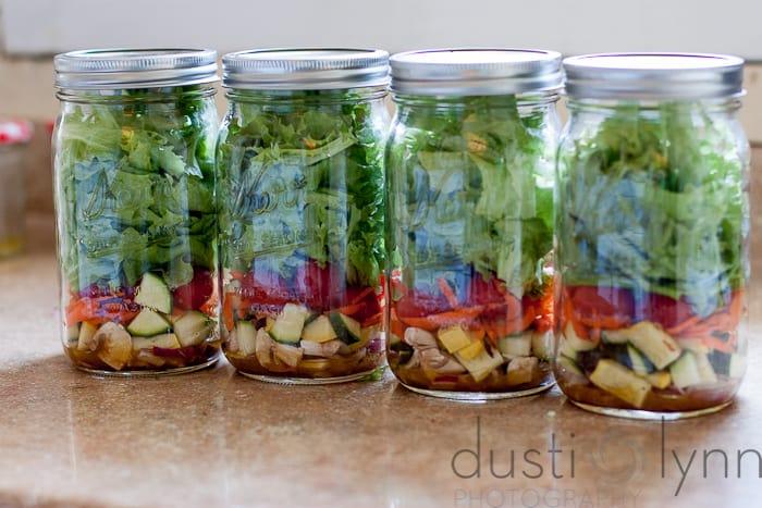 mason jar lunch salads