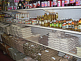 Shelves of any kind of spice you can think of will be sold somewhere in Fordsburg