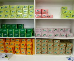 There is one shop that sells different teas to heal any kind of ailment - better sex life, constipation or muscle pain?