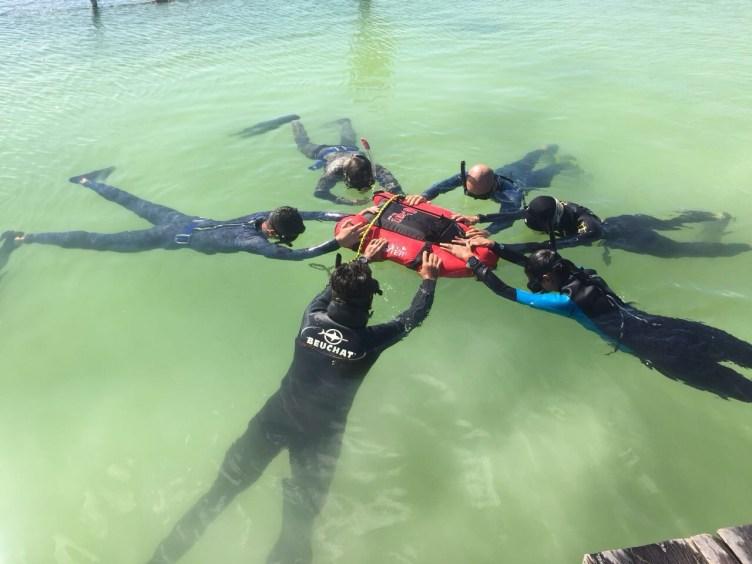 Freediving w centach, Tulum, Meksyk