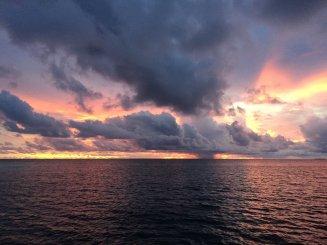 Prawie codziennie mamy takie widoki na zachód słońca. No chyba że leje deszcz...