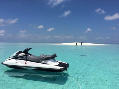 skutery wodne na Malediwach