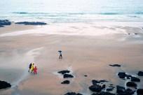 lluvia en la playa - Asturia