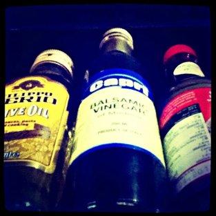 bottles from below