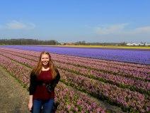 Me in the Dutch flower fields near Lisse, The Netherlands