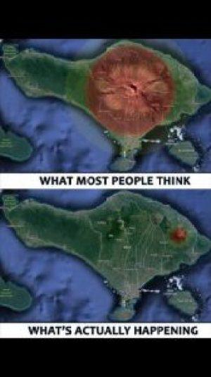 ugnikalnio Agung situacija