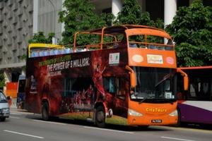 Singapūro dieos turų autobusas