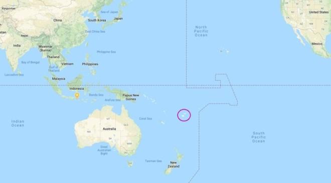 Pasaulio žemėlapis - pažymėtas Fidžis