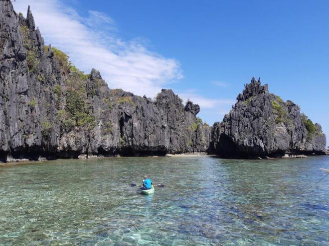 Palawano saloje Hidden paplūdimys