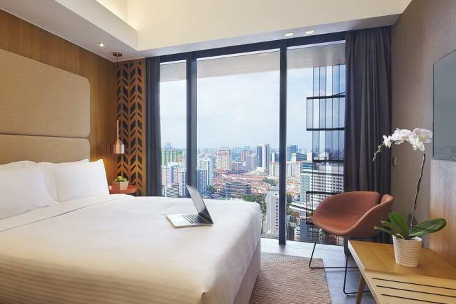 Viešbutis su vaizdu į dangoraižius Singapūre
