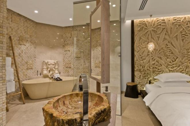 Balio salos įkvėptas viešbutis