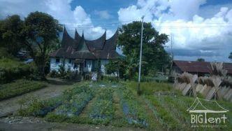 Minangkabau traditional house in Sumatra island