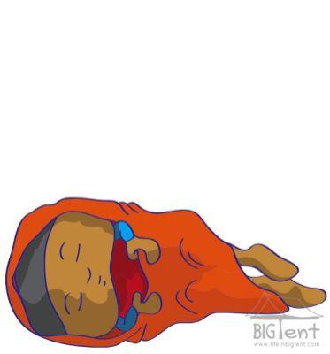 Wearing sarong - blanket