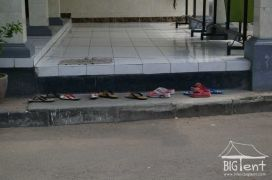 Shoes outside mosque