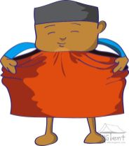 Wearing sarong - step 3