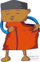 Wearing sarong - step 4