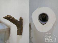 Handmade toilet paper hanger