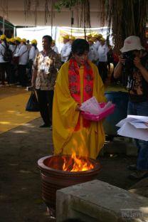 Ceremony in Vesak day