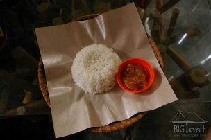 Rice and sambal