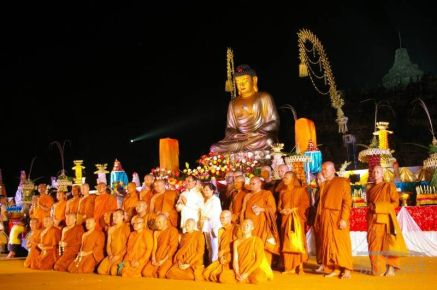 Monks group in Vesak day