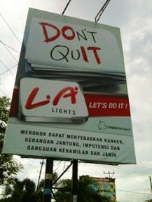 Cigaretts advertising