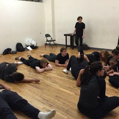 Movement class at Stella Adler