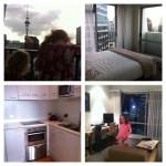 Vår första kväll i Auckland