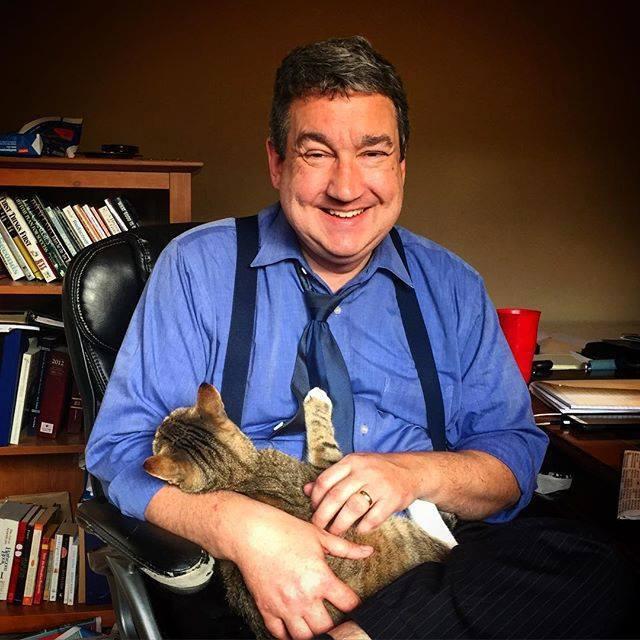 John with Cat
