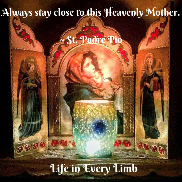 Always stay close to this Heavenly Mother.- St. Padre Pio