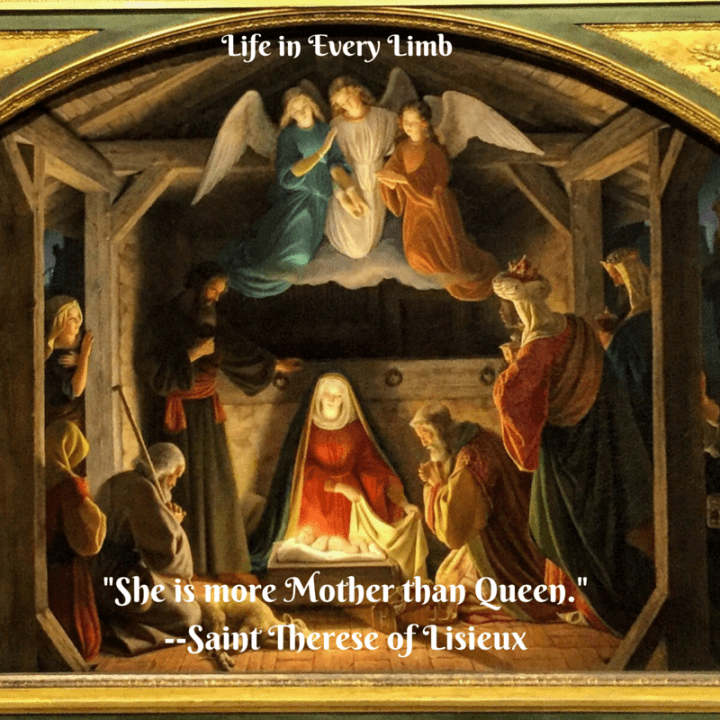 -She is more Mother than Queen.---Saint Therese of Lisieux