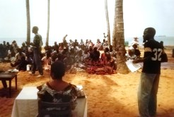 Easter on the beach in Ivory Coast