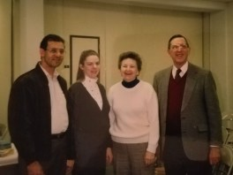 With Dr and Mrs Cotey 1990