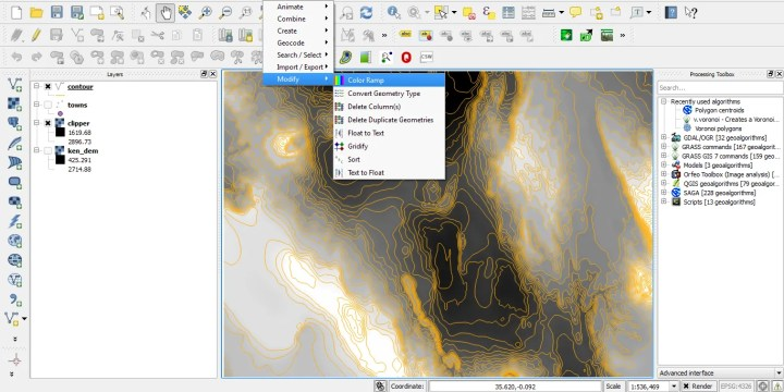 Generating Contours from  DEM in QGIS