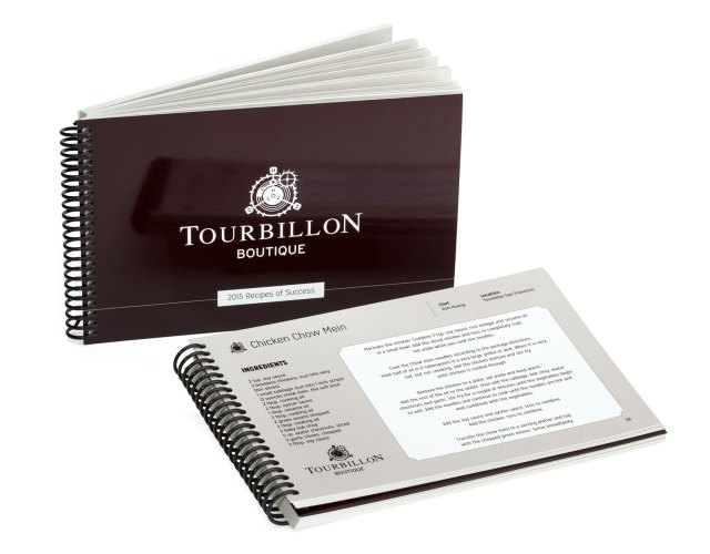 Tourbillon cookbook of recipes contributed by company managers