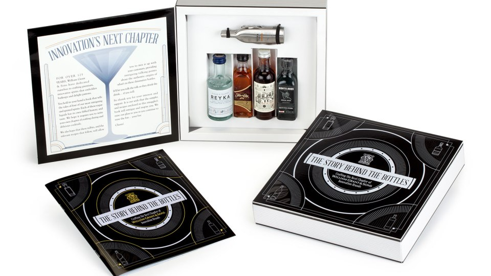 """""""The Story Behind the Bottles"""" custom packaging promotion for William Grant & Sons"""