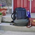 What to Pack to Backpack Through Europe >> Life In Limbo