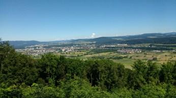 Looking over the Rheinfeldens (CH and DE) from Eigenturm on the Hirzenleck