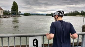 Peering over the edge into the Rhine