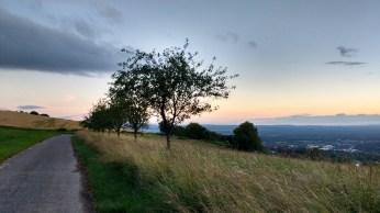 Sunset over the Rheintal from Tüllingerberg