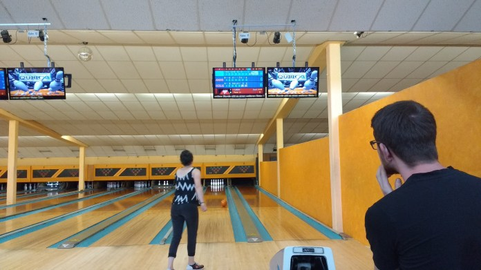Bowling with Lisanne and Nicolas
