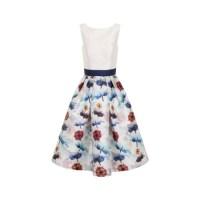 Fashion pick: Digital floral block print midi dress from Chi Chi London