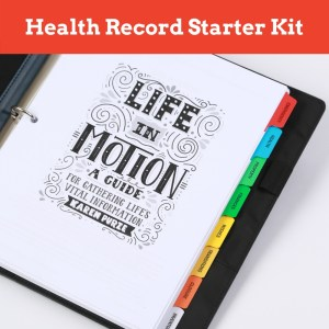 Life in Motion Health Record Starter Kit