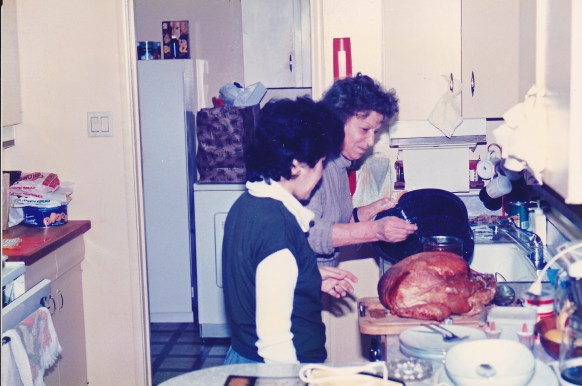 Cora and mom tgiving early 80s