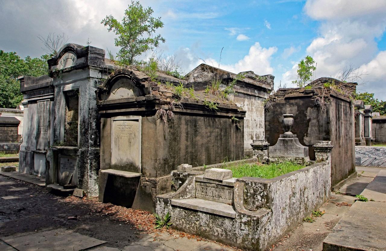 Row of tombs