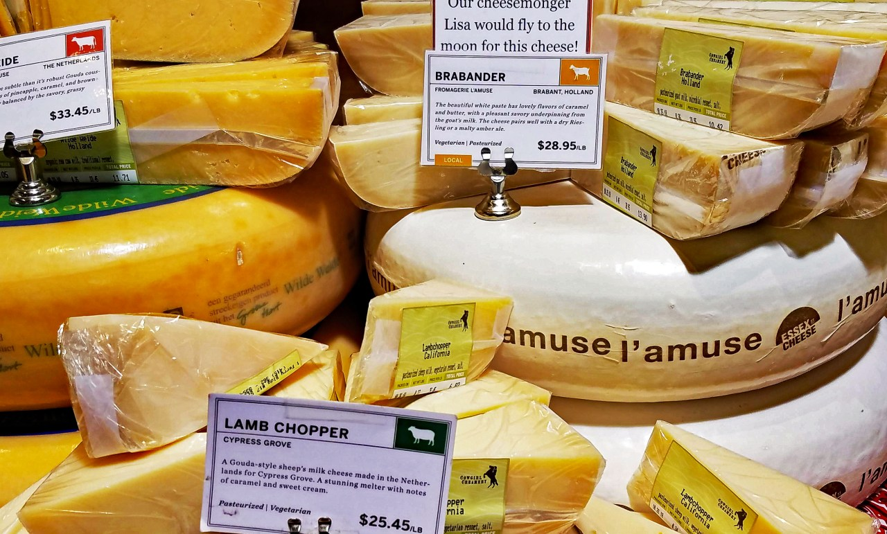 Farmer's market cheese