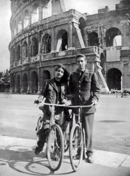 Richard and Livia Anderson June 1945 Rome